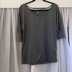 3/4 Sleeve Champion Gray Top